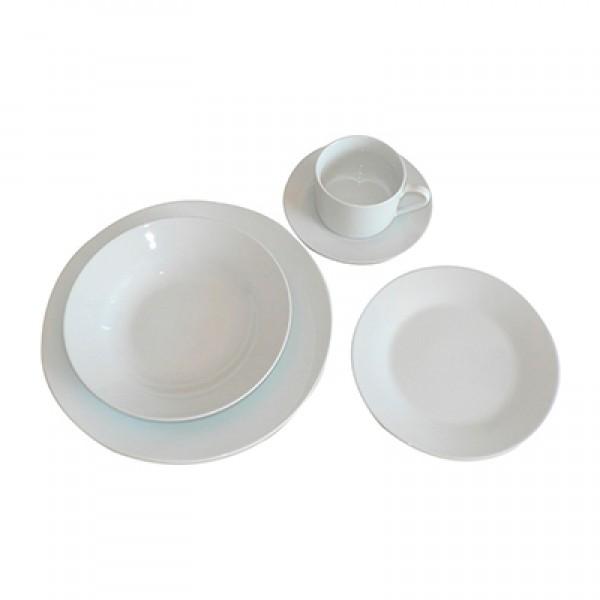 juego de vajilla piezas porcelana blanca berma hotel