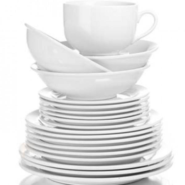 Juego de vajilla porcelana blanca 30 piezas xiu liu - Platos porcelana blanca ...
